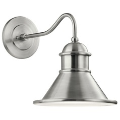 Farmhouse Barn Light Outdoor Wall Light Brushed Aluminum by Kichler