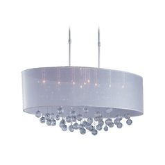 ET2 Lighting Modern Pendant Light with Silver Shades in Polished Chrome Finish E22387-120PC