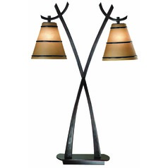 Art Deco Table Lamp Oil Rubbed Bronze Wright by Kenroy Home Lighting