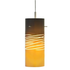 Oggetti Lighting 82-3002E Murana Art Glass Mini-Pendant Light with Cylinder Shade