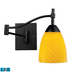 Elk Lighting Celina Dark Rust LED Swing Arm Lamp