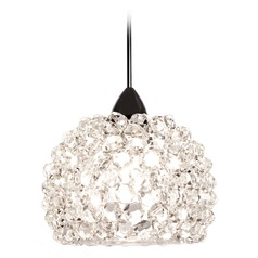 WAC Lighting Gia Chrome Mini-Pendant Light with Bowl / Dome Shade