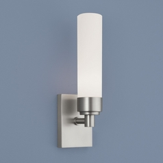 Norwell Lighting Alex Brush Nickel Sconce