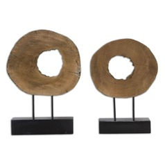 Uttermost Ashlea Wooden Sculptures Set of 2