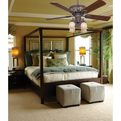 Savoy House Walnut Patina Ceiling Fan with Light