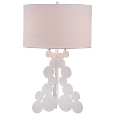George Kovacs White Table Lamp with Cylindrical Shade