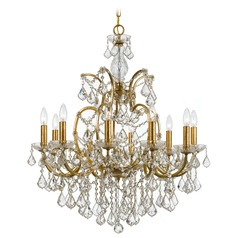 Crystorama Filmore 10-Light Crystal Chandelier in Antique Gold