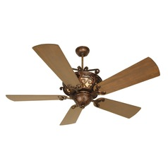 Craftmade Lighting Toscana Peruvian Bronze Ceiling Fan with Light