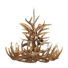 Elk Lighting Elk Wood Brown Chandelier