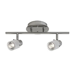 Kuzco Lighting Modern Brushed Nickel Directional Spot Light with Frosted Shade