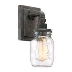 Quoizel Lighting Squire Rustic Black Sconce