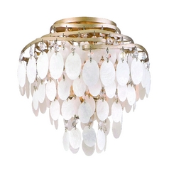 Corbett Lighting Dolce Champagne Leaf Semi-Flushmount Light