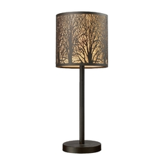 Table Lamp in Aged Bronze Finish