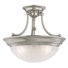 Three-Light Semi-Flush Light