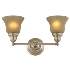 Two-Light Sconce with Amber Glass