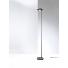 Holtkoetter Modern LED Torchiere Lamp in Hand-Brushed Old Bronze Finish
