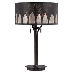 Quoizel Mica Imperial Bronze Table Lamp with Drum Shade