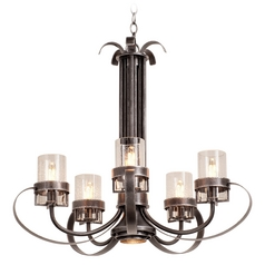 Seeded Glass Chandelier Iron Kalco Lighting