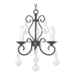 Livex Lighting Donatella English Bronze Mini-Chandelier