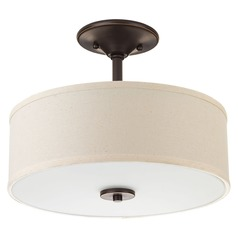 Progress Lighting Inspire Antique Bronze LED Semi-Flushmount Light
