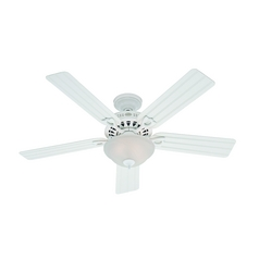 Hunter Fan Company Beachcomber White Ceiling Fan with Light