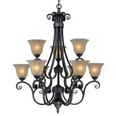 Dolan Designs Lighting Nine-Light Chandelier 777-34