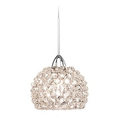 WAC Lighting Gia Chrome LED Mini-Pendant Light with Bowl / Dome Shade