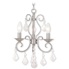 Livex Lighting Donatella Brushed Nickel Mini-Chandelier