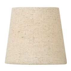 Oatmeal Chambray Coolie Lamp Shade