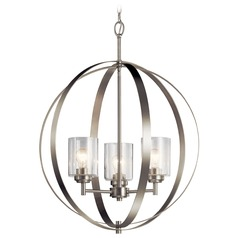 Kichler Lighting Winslow 3-Light Brushed Nickel Chandelier