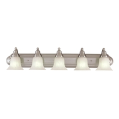 Design Classics Lighting Energy Star Qualified Five-Light Bathroom Light 770ES-09