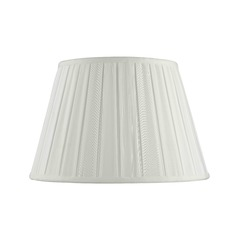 Spider Coolie Pleated White Lamp Shade