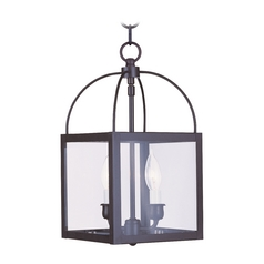 Livex Lighting Milford Bronze Mini-Pendant Light with Square Shade