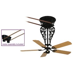 Fanimation Fans Bourbon Street Black Ceiling Fan Without Light