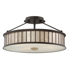 Quoizel Lighting Belfair Western Bronze Semi-Flushmount Light