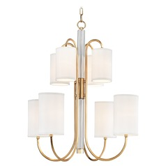 Hudson Valley Lighting Junius Aged Brass Chandelier