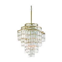 Corbett Lighting Dolce Champagne Leaf Island Light