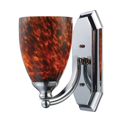 Sconce with Art Glass in Polished Chrome Finish