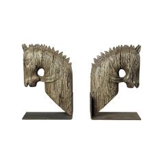 Roman Empire Guard Horses Decorative Bookends
