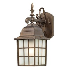 Design Classics Lighting Outdoor Wall Lantern with LED Light Bulb 3344 AT 8W LED