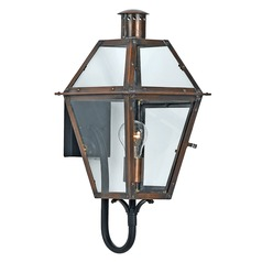 Quoizel Rue De Royal Aged Copper Outdoor Wall Light