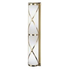 Robert Abbey 1987 Chase Natural Brass Bathroom Light - Vertical Mounting Only