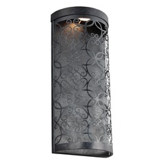 Feiss Lighting Arramore Dark Weathered Zinc LED Outdoor Wall Light