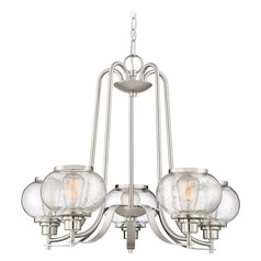Edison Bulb Chandelier Brushed Nickel 26-Inch by Quoizel Lighting