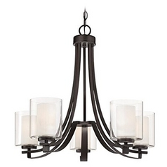 Minka Parsons Studio 5-Light Chandelier in Smoked Iron
