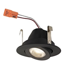Adjustable Black Gimbal Trim LED Recessed Module for 2-Inch Cans 3000K 680 Lumens