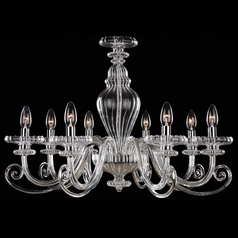Chandelier with Clear Glass in Chrome Finish
