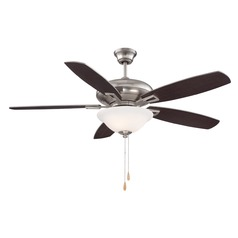 Savoy House Lighting Satin Nickel Ceiling Fan with Light