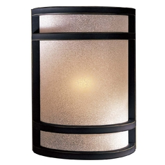 Modern Sconce Wall Light with White Glass in Dark Restoration Bronze Finish