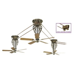 Fanimation Fans Bourbon Street Antique Brass Ceiling Fan Without Light